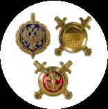 Эмблемы петличные на погоны, металл