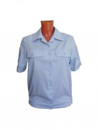 """Рубашка женская форменная """"Полиция"""" голубая, короткий рукав"""
