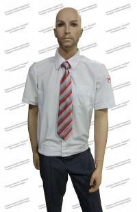 Рубашка  РЖД форменная белая короткий рукав (с шевронами)