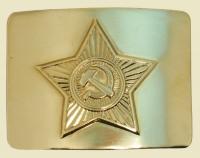 Бляха звезда СА на солдатский ремень латунь золото
