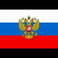 Флаг России с гербом 90х135