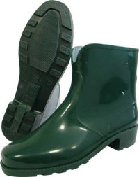 Полусапоги резиновые женские «Леди» зелёные