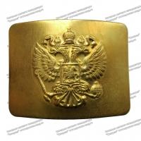 Бляха Орёл МВД на ремень золото латунь