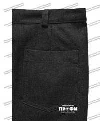 Джинсовые брюки под узкий ремень Противопожарной службы МЧС (ПОД ЗАКАЗ)