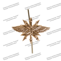 Эмблема петличная металл Войска Связи золото