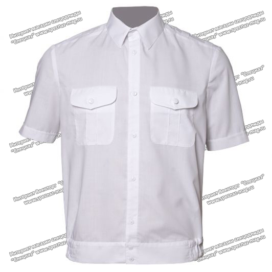 ec7321b90ddb Рубашка РЖД форменная белая короткий рукав - Военторг и Спецодежда в ...