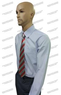 Рубашка РЖД форменная голубая длинный рукав