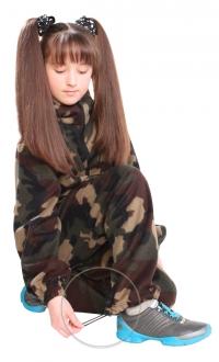 Костюм детский Флисовый зелёный Камуфляж
