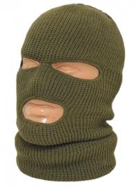 Шлем-маска оливковая с отверстием для глаз и рта