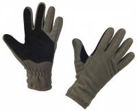 Флисовые перчатки «WindBlock» полар с кожаными вставками