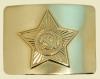 Бляха звезда СА на солдатский ремень золото