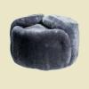 Шапка-ушанка ВС натуральный мех серая