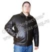 Куртка лётная кожаная «Пилот» с вельветовым воротником