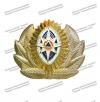 Кокарда металлическая МЧС, нового образца с розой ветров, триколор (краб)