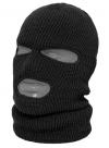 Шлем-маска черная с отверстием для глаз и рта