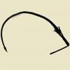 Нагайка с плетённой ручкой (Хлыст) 125 см