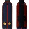 Погоны ФСИН темно-синие, Лейтенант, вышитые звезды