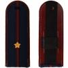 Погоны ФСИН темно-синие, Младший лейтенант, вышитые звезды