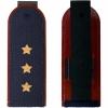 Погоны ФСИН темно-синие, Старший прапорщик, вышитые звезды