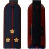Погоны ФСИН темно-синие, Старший лейтенант, вышитые звезды