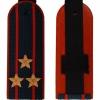 Погоны МЧС темно-синие, Полковник, с вышитыми звездами