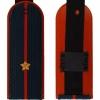 Погоны МЧС темно-синие, Младший лейтенант, с вышитыми звездами