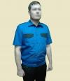 Рубашка охранника форменная короткий рукав василек