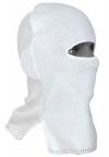 Шлем-маска белая с одним отверстием