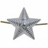 Звезда на погоны мет. 20 мм (рифленая) серебряная