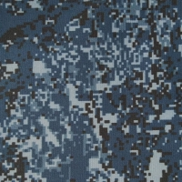 Ткань Грета 210 синий камуфляж цифра