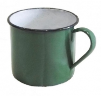 Кружка армейская эмалированная зелёная