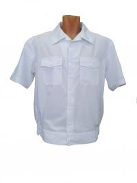 """Рубашка форменная """"Полиция"""" белая с коротким рукавом"""
