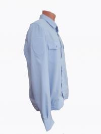 """Рубашка форменная """"Полиция"""" голубая, длинный рукав"""