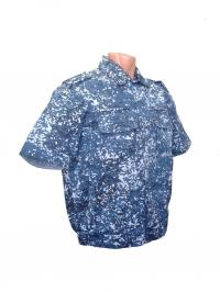 Рубашка синяя цифра короткий рукав
