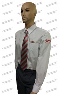 Рубашка РЖД белая длинный рукав (с шевроном и галуном)