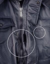 """Карман под пистолет с карабином+крепление жетона - Куртка """"Полиция"""" Всесезонная Укороченная"""
