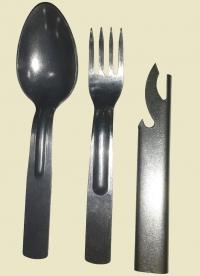 Набор столовых приборов ВС РФ (ложка, вилка, консервный нож) алюминий