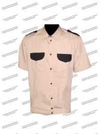 Рубашка охранника форменная короткий рукав, бежевая