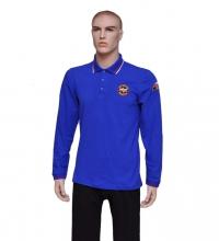 Рубашка Поло МЧС с длинным рукавом и шевронами
