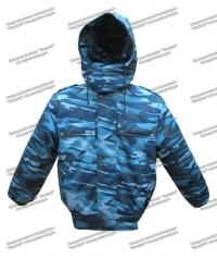 """Куртка зимняя """"Омега"""" синий камуфляж"""
