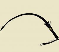 Нагайка с плетённой ручкой 80 см