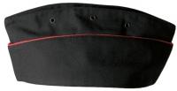 Пилотка Морская пехота, черная с красным кантом