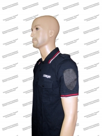 "Рубашка поло ""Полиция"" с липучками, с надписями, короткий рукав"