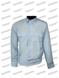 """Рубашка """"Полиция"""" длинный рукав голубая"""