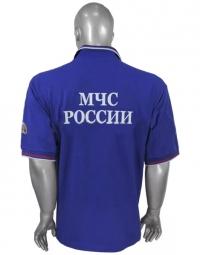 Футболка Поло МЧС с коротким рукавом и шевронами