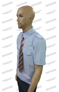 Рубашка РЖД форменная голубая короткий рукав