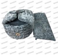 Каракулевая шапка МВД с кокардой + каракулевый воротник