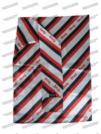 Шарф (Платок) РЖД женский с черными и красными полосками, нового образца