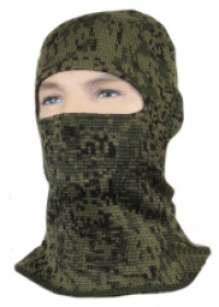 Шлем-маска зеленая цифра с 1 отверстием