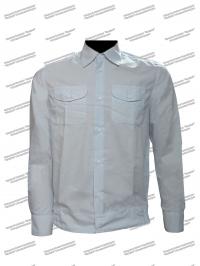 Рубашка детская форменная, длинный рукав, белая